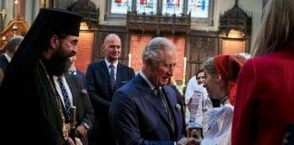 Le prince de Galles a visité une paroisse orthodoxe roumaine de Londres