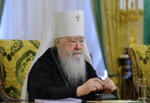En la fête de la synaxe des nouveaux martyrs et confesseurs de Russie, le métropolite de Kroutitsy Juvénal a célébré la liturgie en la cathédrale de la Dormition au Kremlin