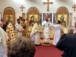 Consécration de l'église roumaine des Saints-ancêtres-de-Dieu-Joachim-et-Anne à Palaiseau