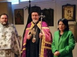 Paris : l'église sainte Nino a reçu la visite de la présidente de Géorgie