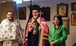The President of Georgia visited an Orthodox church in Paris