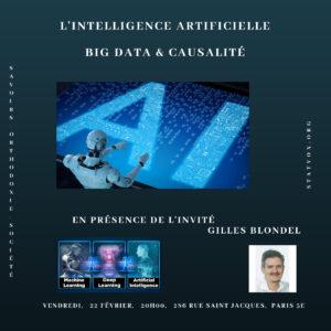 Conférence : «l'Intelligence artificielle, le BigData et la causalité» – vendredi 22 février