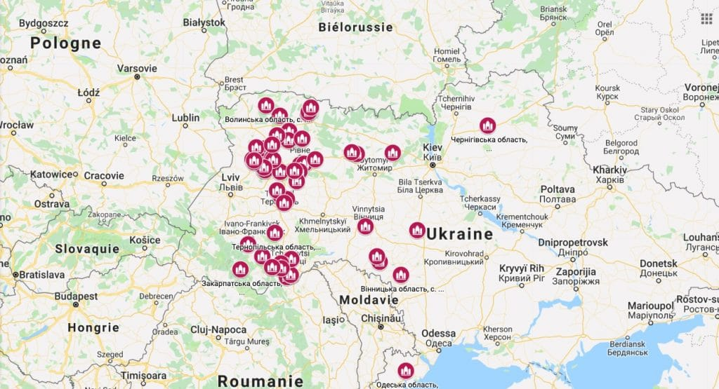 Interactive map of Ukraine Orthodox parishes seized by the new autocephalous Church