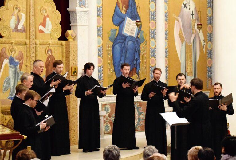 Concerts de l'ensemble vocale « Chantres orthodoxes russes » à cathédrale orthodoxe de la Sainte-Trinité à Paris