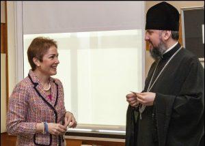 Metropolitan Epifaniy met with US Ambassador to Ukraine Marie L. Yovanovitch