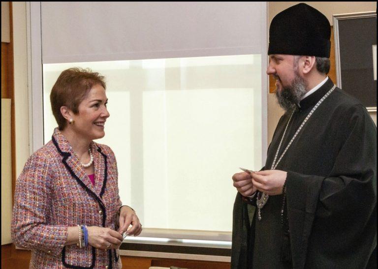 Le métropolite Epiphane a rencontré l'ambassadeur des États-Unis en Ukraine, Marie Yovanovitch