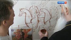 Russian iconographers recreate a 13th century icon