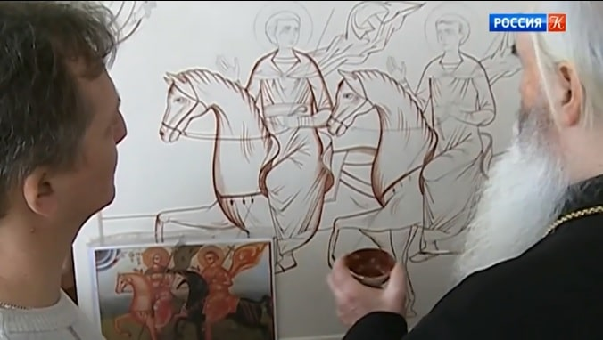 Russian iconographers recreate a 13th century icon
