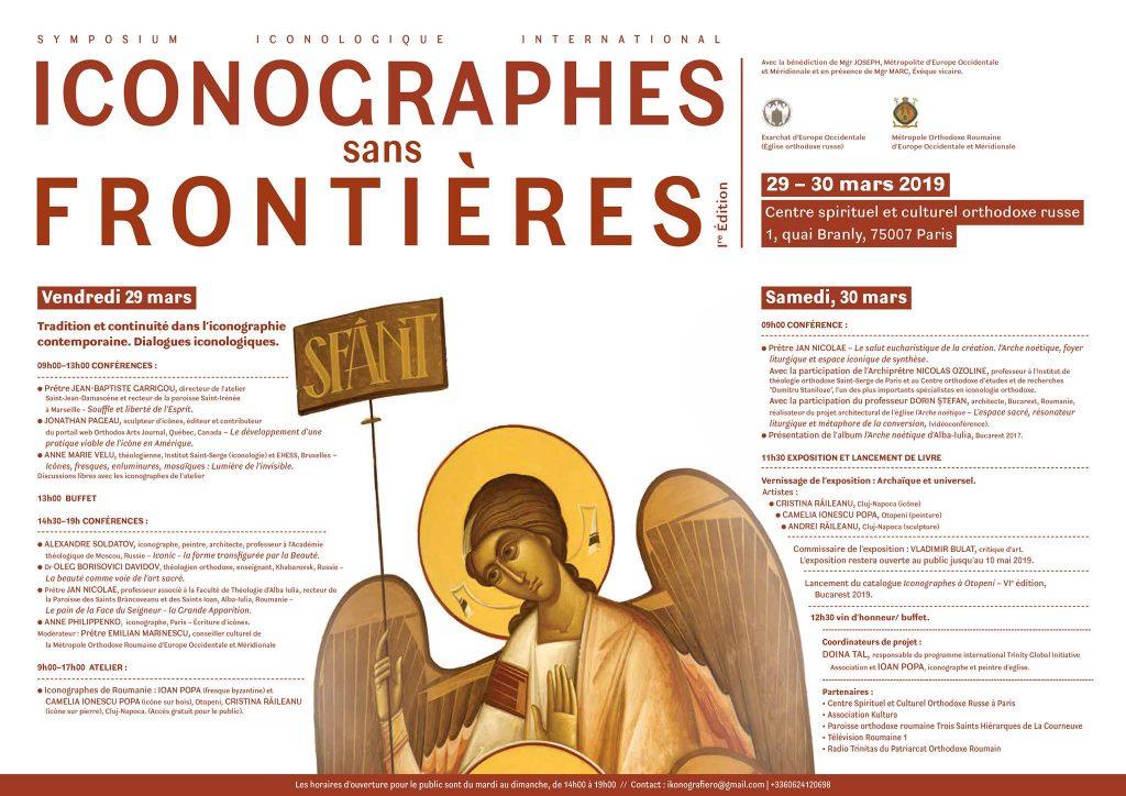 «Iconographes sans frontières» : deux jours de conférences à Paris