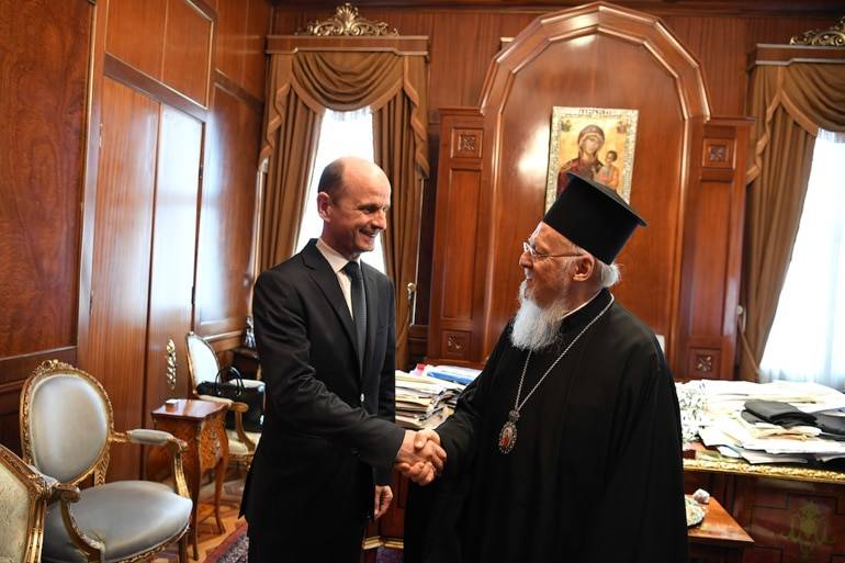 The ambassador of North Macedonia in Ankara met with Patriarch Bartholomew