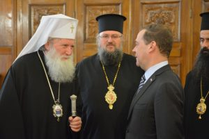 Patriarch Neophyte of Bulgaria met with the Russian Federation Prime Minister