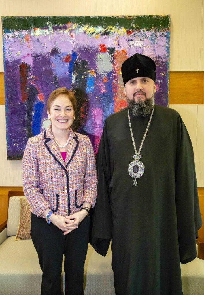 Le métropolite Épiphane a rencontré l'ambassadrice des États-Unis en Ukraine, Marie Jovanovich