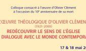 Symposium dedicated to Olivier Clément