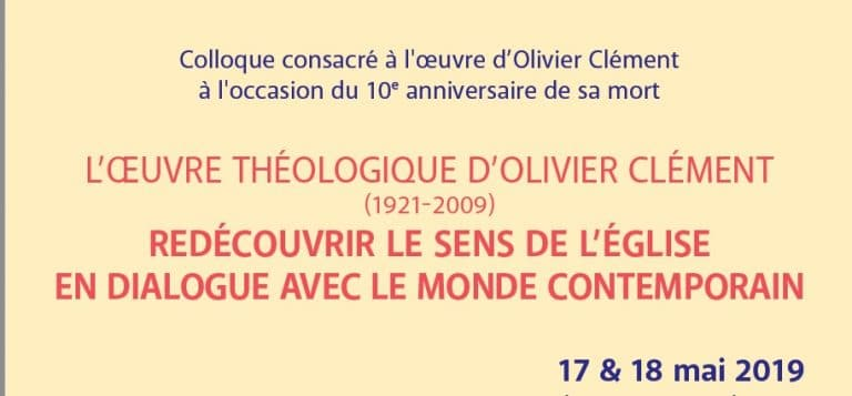 Symposium dedicated to Olivier Clément