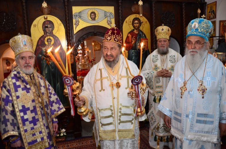 Liturgy of the Annunciation and commemoration of the 40th anniversary of the death of St. Justin Popovich at Ćelije Monastery (Serbia)