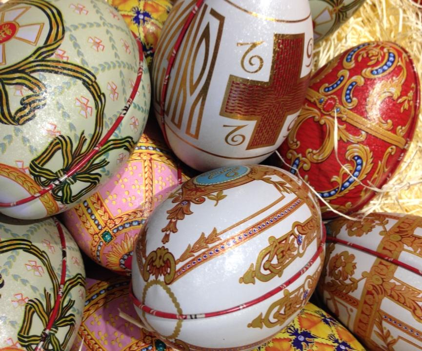 Exposition d'œufs de Pâques de Russie, du XIXe et XXe siècle