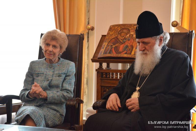 Patriarch Neophyte of Bulgaria met with French Academician Hélène Carrère d'Encausse