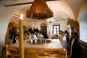 Patriarch Kirill performed the intercessory service of the beginning of the rite for the making of the Chrism