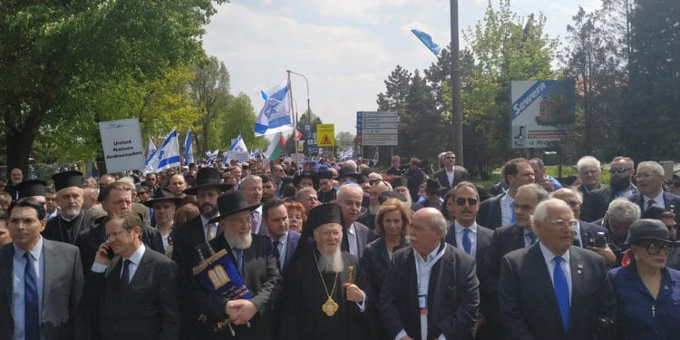 """Ecumenical Patriarch Bartholomew participated in the """"March of the living"""" in Auschwitz"""