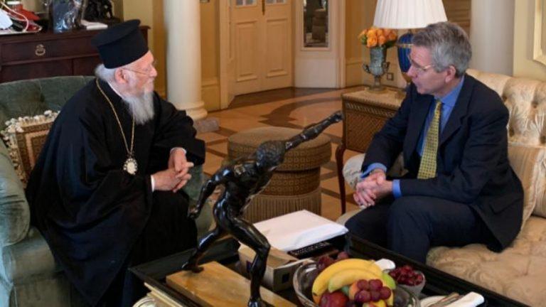Le patriarche œcuménique a reçu l'ambassadeur des États-Unis en Grèce
