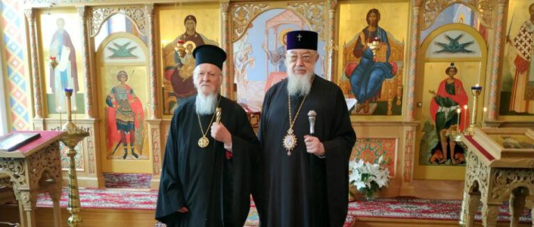 Visite du patriarche Bartholomée à Varsovie