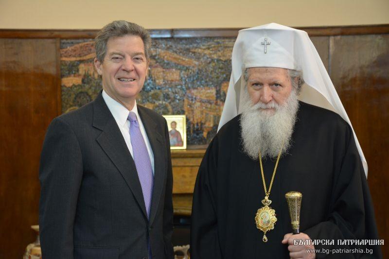 L'ambassadeur américain Samuel Brownback a rencontré le patriarche de Bulgarie Néophyte