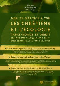 «Les chrétiens et l'écologie», table-ronde et débat à Paris le 29 mai