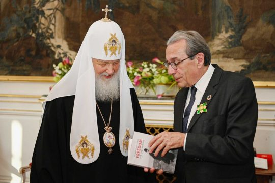 Meeting between Patriarch Kirill of Moscow and Roland Ries, the Mayor of Strasbourg