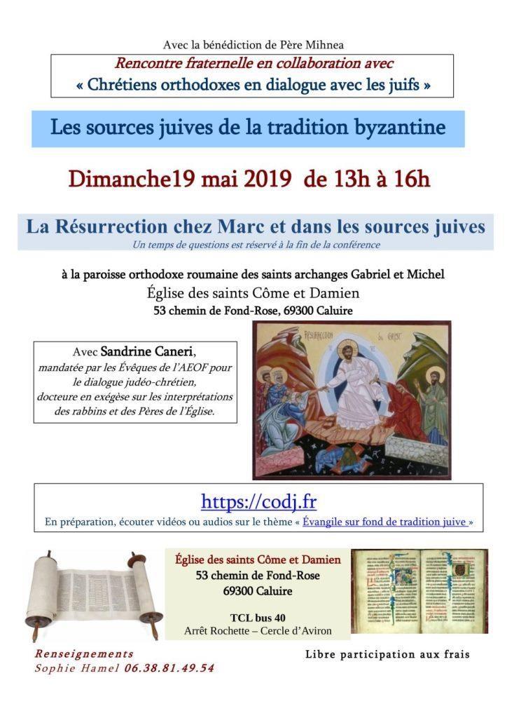 «La Résurrection chez Marc et dans les sources juives»