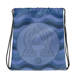 Privé: Alpha and Omega Blue Version Drawstring bag