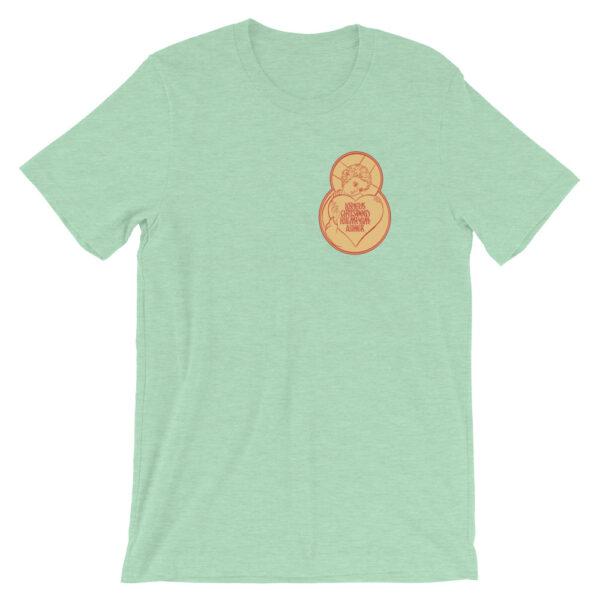 Privé: Jesus Prayer Angel with Heart Version Short-Sleeve Unisex T-Shirt