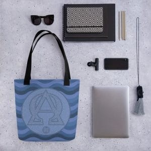 Privé : Alpha and Omega Blue Version Tote bag