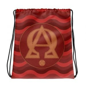 Privé : Alpha and Omega Red Version Drawstring bag
