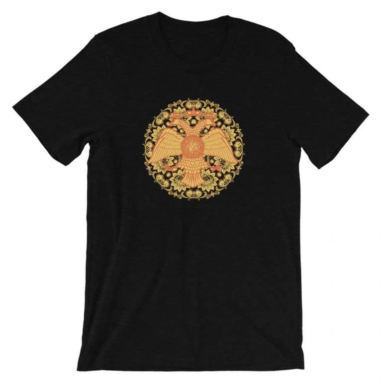 Privé : Byzantine Double-headed Eagle Russian Style Short-Sleeve Unisex T-Shirt