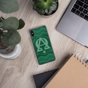 Privé: Alpha and Omega Green Version iPhone Case