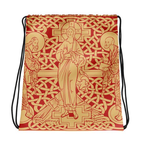 Privé: The Transfiguration of Christ Drawstring bag Red version