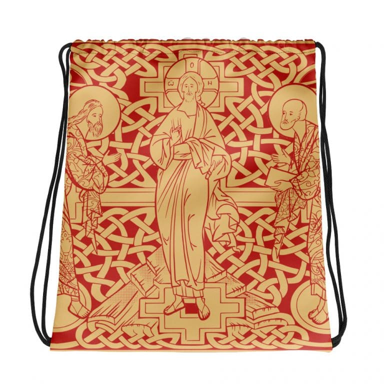 Privé : The Transfiguration of Christ Drawstring bag Red version