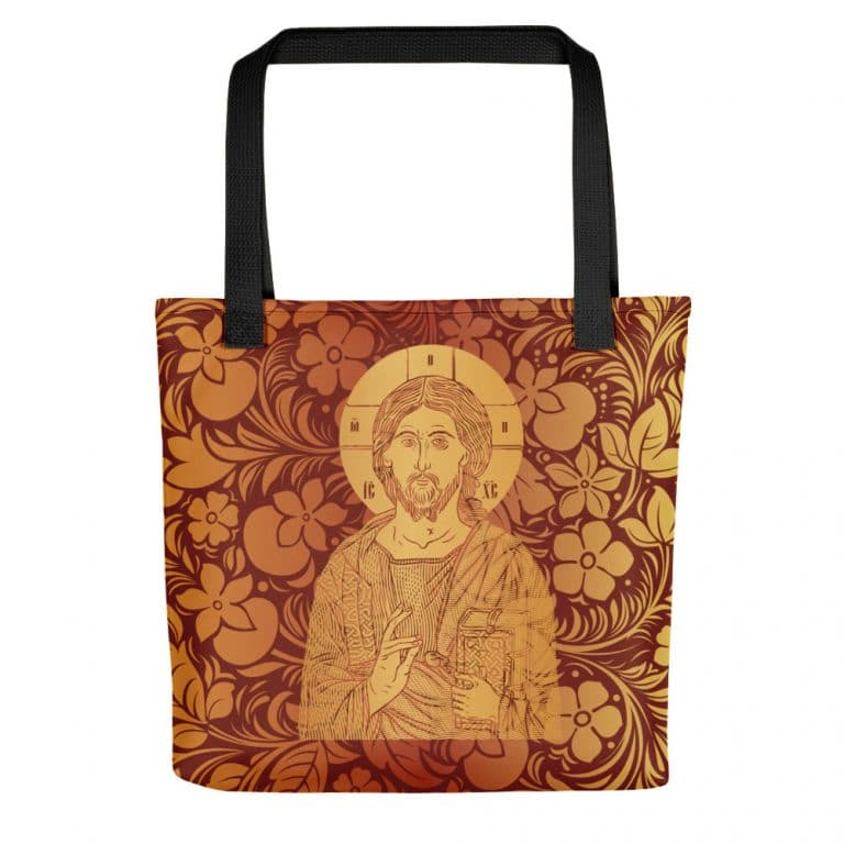 Privé : Christ the Savior & Life-Giver Tote bag Red Version
