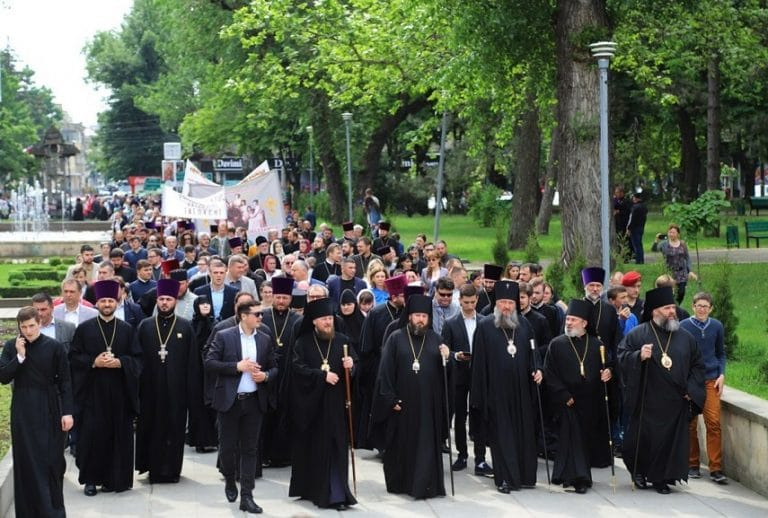 The March for Life took place in Chişinău, led by bishops of the Orthodox Church of Moldova