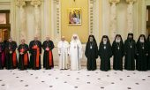 Pope Francis was received in Bucharest by Patriarch Daniel of Romania