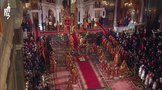 Pascha Vespers in the Cathedral of Christ the Savior, Moscow (video)