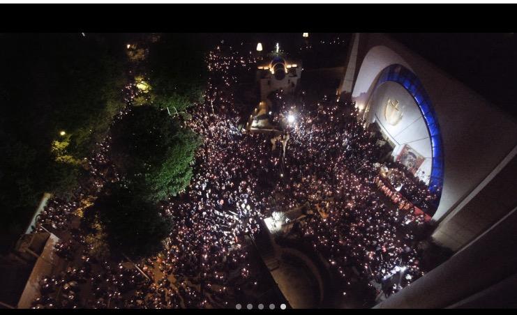 Des milliers de fidèles ont assisté à la liturgie pascale à Tirana