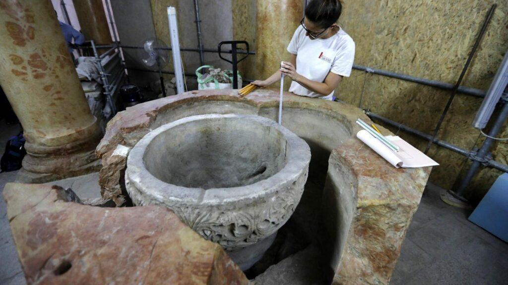 Découverte d'un baptistère byzantin à Bethléem