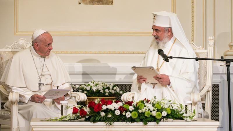 Le pape François a rendu visite au Patriarcat de Roumanie