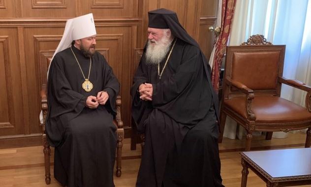 Le métropolite Hilarion de Volokolamsk a rencontré le primat de l'Église orthodoxe de Grèce