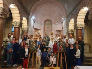 L'archevêque d'Alba Iulia Irénée (Patriarcat de Roumanie) a célébré la divine liturgie en l'église Saint-Irénée de Lyon