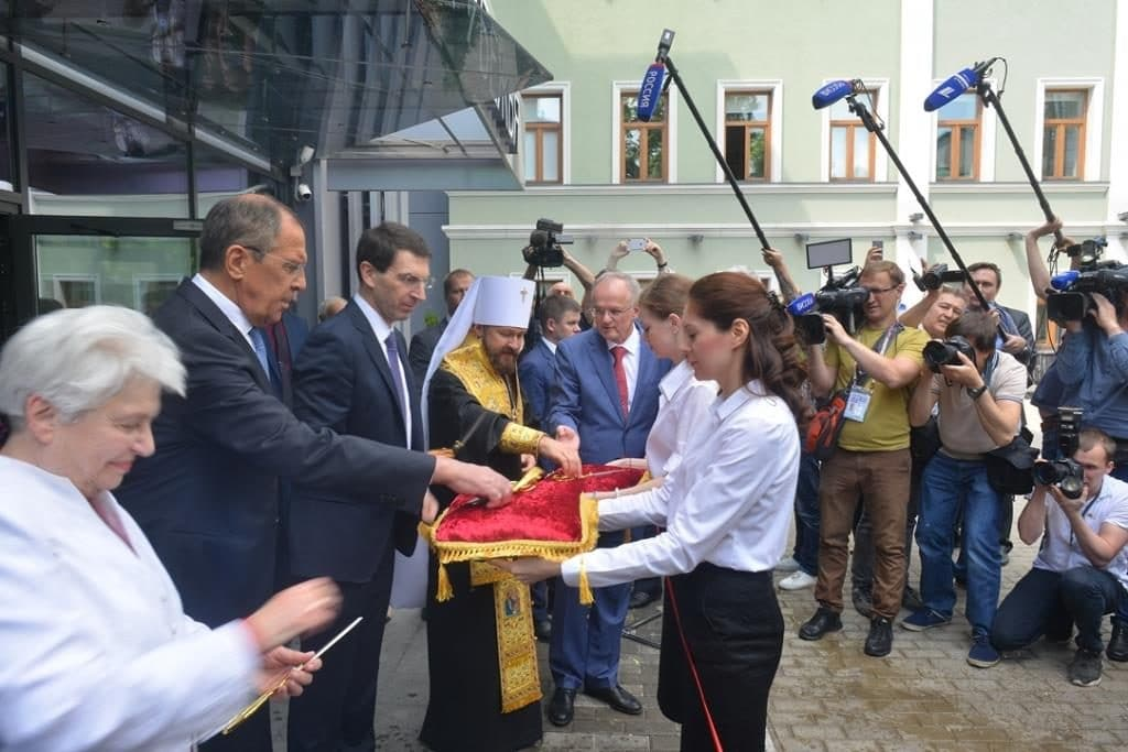 Le métropolite de Volokolamsk Hilarion a participé à l'inauguration du Musée de la diaspora russe,  à Moscou