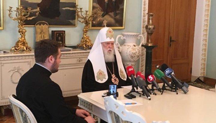 Le « patriarche » Philarète a créé son « Saint-Synode » et déclare « ne pas être concerné par les décisions de l'Église orthodoxe ukrainienne » du métropolite Épiphane
