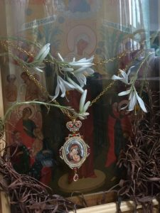 For the eighth consecutive year, dried lilies bloomed on an icon of the Theotokos in a Transcarpathia monastery