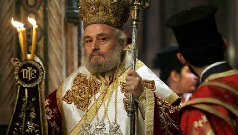 L'ex-patriarche de Jérusalem Irénée est rétabli dans son rang épiscopal avec le titre « d'ancien patriarche de Jérusalem »